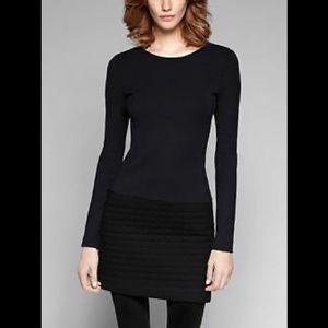 Theory Mimi q classical long sleeve shift dress